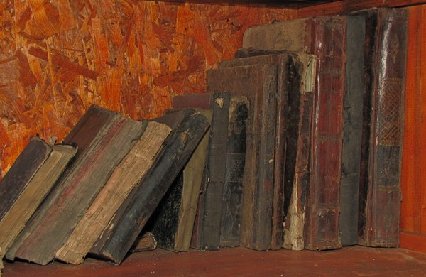 books: old books in a synagogue