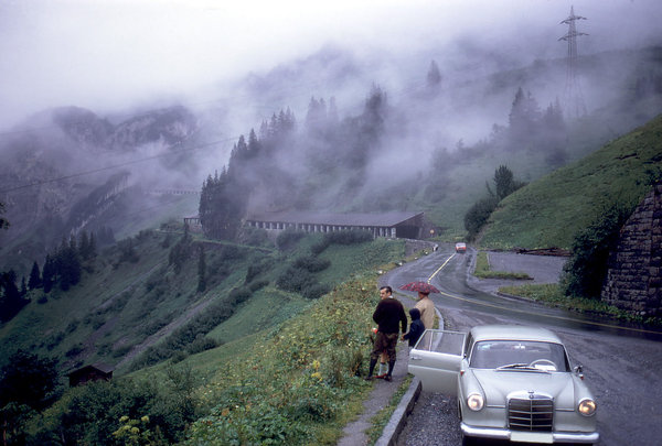 Mountain Pass: A mountain pass through the German Alps.