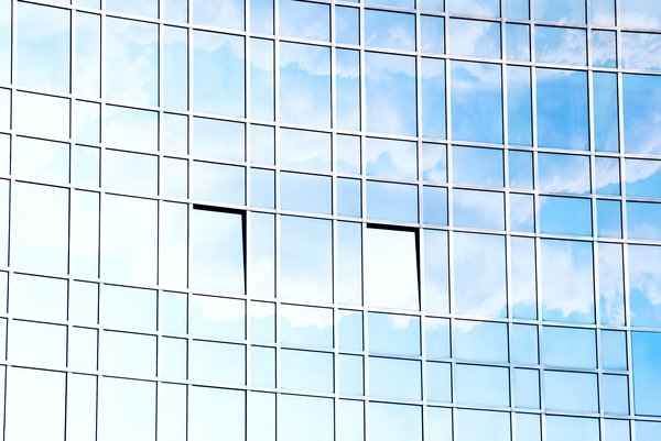 Corporate windows: corporate glass building