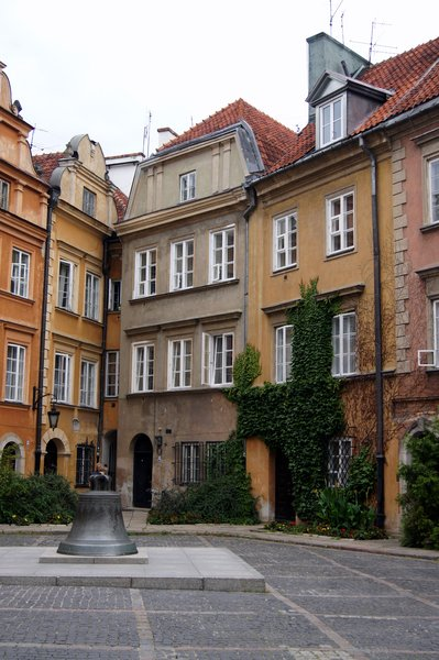 tenement houses: old town in Warsaw