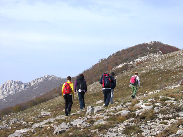 hiking: mountain Velebit, Croatia