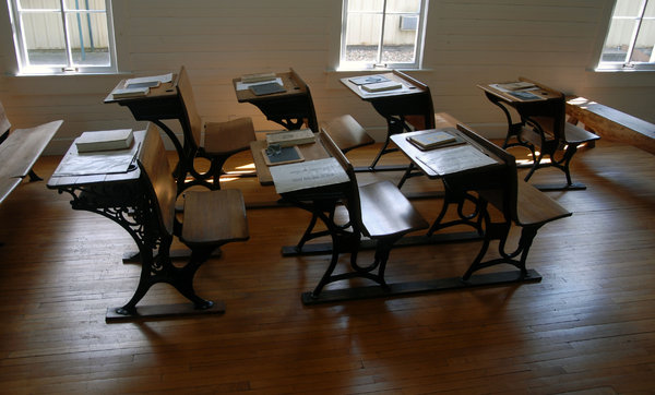 Schoolroom: An old schoolroom