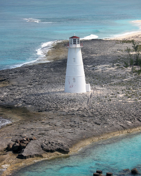 Nassau Lighthouse: The lighthouse at the entrance to Nassau harbor.