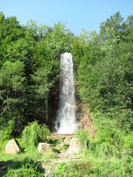 waterfall: waterfall in Romania (Maramures)