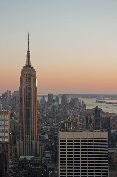 Empire State Building: Empire State Building in the golden hours on a clear day. Contact me for hi-res