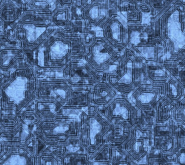 Techno 2: Abstract texture that suggest electronics, computer chips, or wiring.