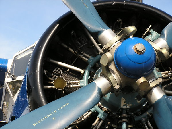 engine: an old aeroplane