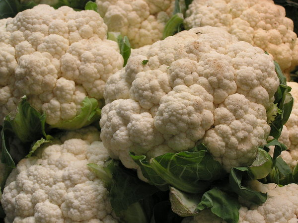 cauliflower: from the greengrocer..