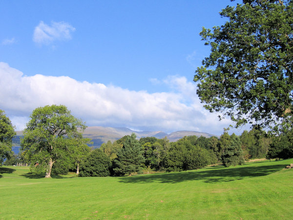 scottish national park 5: Landscape scenery in The Loch Lomond & The Trossachs National Park in Scotland.