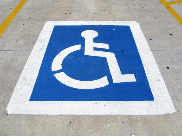 Handicap Parking: A handicap parking sign.