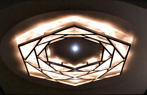 indoor lighting: unusual indoor ceiling lighting arrangement