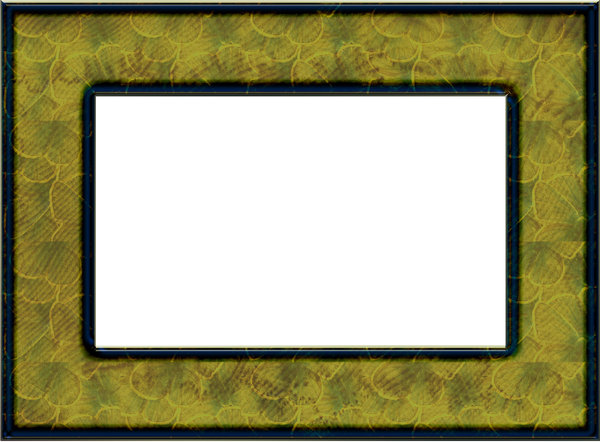 green frame rectangular greenish frame