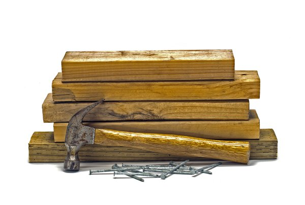 Hammer, Wood and Nails: The essential three items for making a project or home repair.
