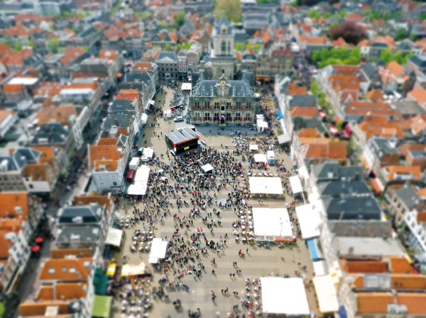 Miniature City: Miniature City, taken from the church tower in the city