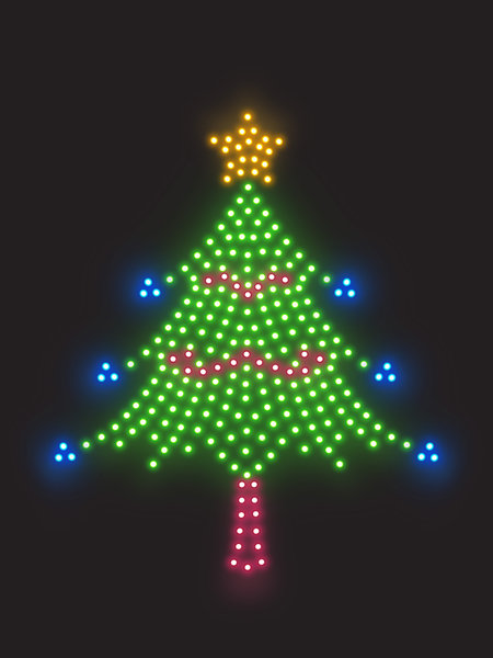 Xmas Lights 3: Christmas decoration made with leds.