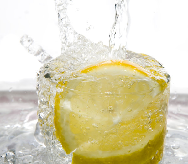 water splash: water splash with fruits