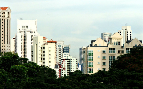 living high: a variety of high rise apartments in Singapore