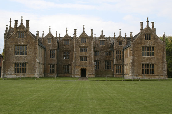 Manor house: Barrington Court, an old mansion in Somerset, England. Photography of this National Trust property is freely permitted.