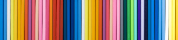 Pencil banner: color pencil panorama