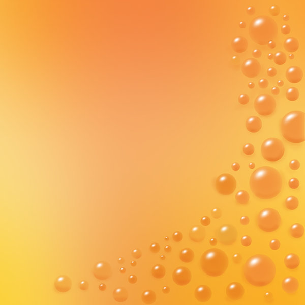 orange: background bubbles