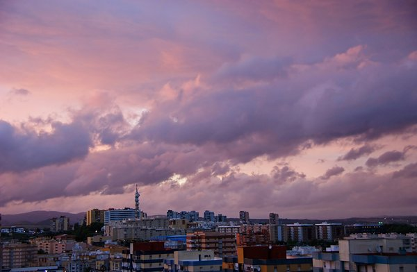 Dusk 3: Clouds over Algeciras