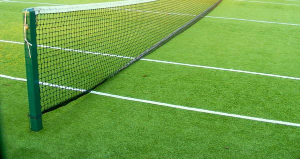evening summer tennis: astro tennis lawn