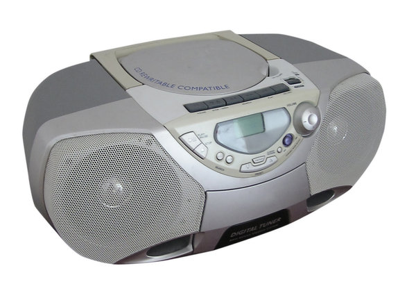 CD Player: A small CD player and radio.