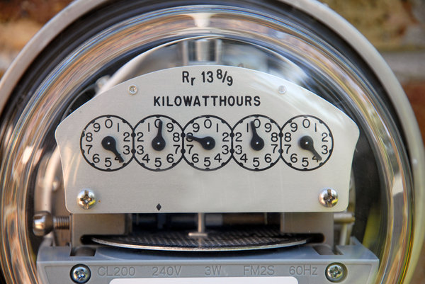 Electric Meter: An electric power meter.