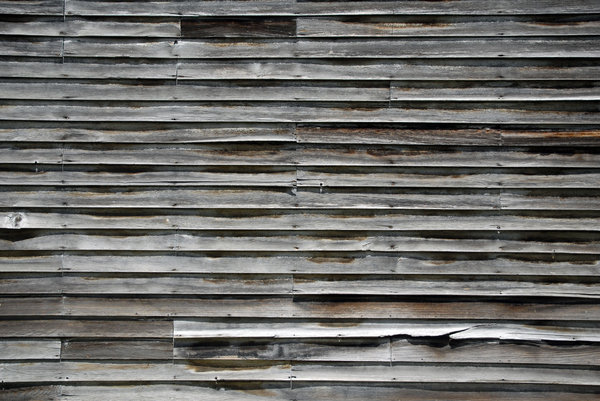 Weathered Wood: Weathered wood siding.
