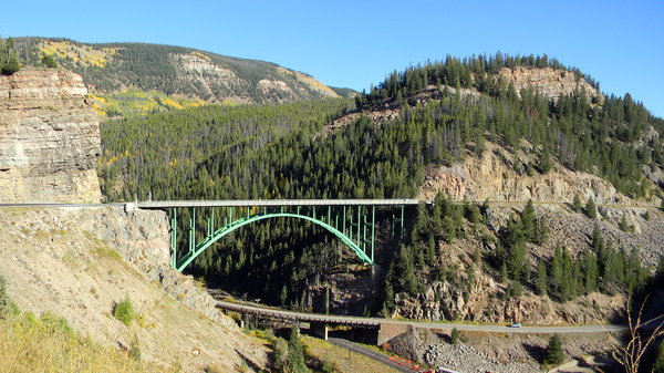 Red Cliff, CO Bridges: Some bridges in Eagle County around Red Cliff, CO. It's a really fun drive up there, especially when the aspen change in September. When I shot this photo I was standing just off the highway on a sharp turn, on a small gravely ledge over a huge cliff, I kid you not!