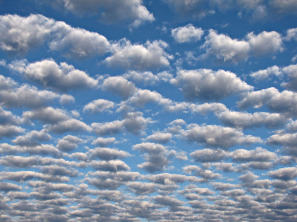 morning clouds west: early morning cloud formation in western sky