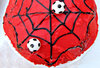 spiderman soccer cake