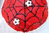 spiderman soccer cake