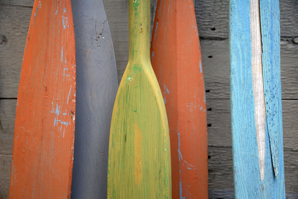Painted Oars: Painted oars.