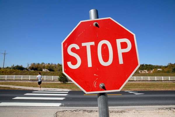 Stop Sign: A stop sign.