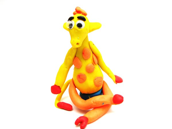 giraffe: just my children being creative with play-dough :-)