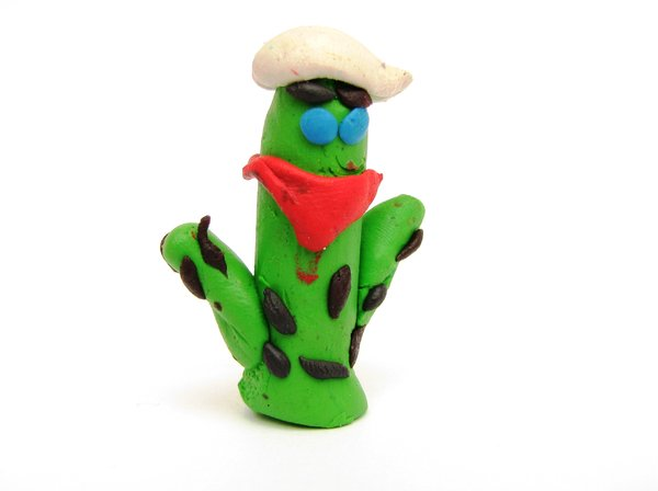 cactus: just my children being creative with play-dough :-)