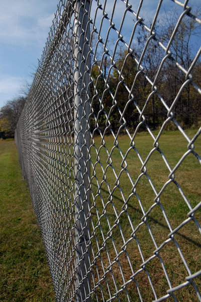 Chain Link Fence: A chain link fence.