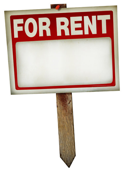 For Rent Sign 1: A couple of variations on a vintage for rent sign.