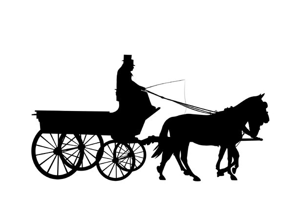 silhouette horse drawn carriag