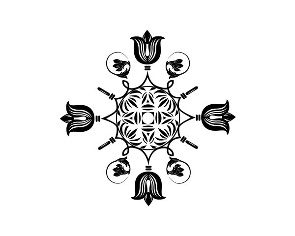 Floral Ornament: Adobe Illustrator CS 5