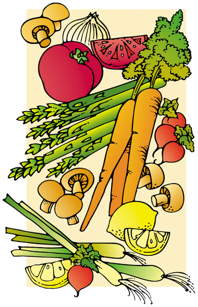 Veggies: A stylized illustration of vegetables.Please support my workby visiting the sites wheremy images can be purchased.Please search for 'Billy Alexander'in single quotes atwww.thinkstockphotos.comI also have some stuff atwww.dreamstime.com/Billyruth03_portfol