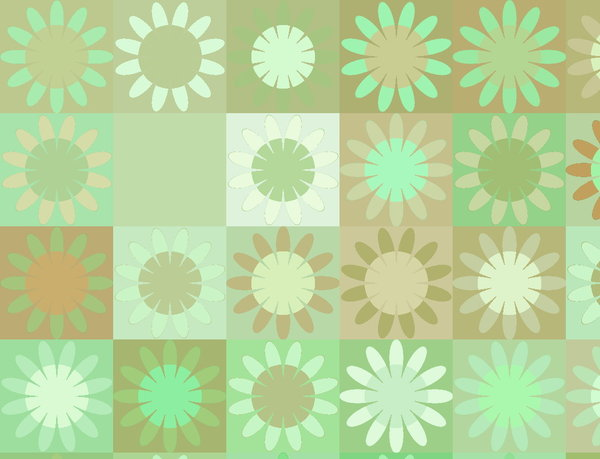 Squares 1: Square and floral patterns in pastel colours. Great texture or background. Nice scrapbooking element.