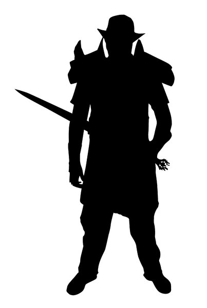 Knight: A knight silhouette