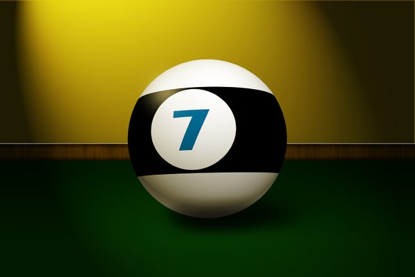 Lucky 7: nr 7 billiard ball