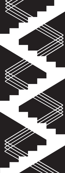 Stairs: an abstract illustration of stairs and railing