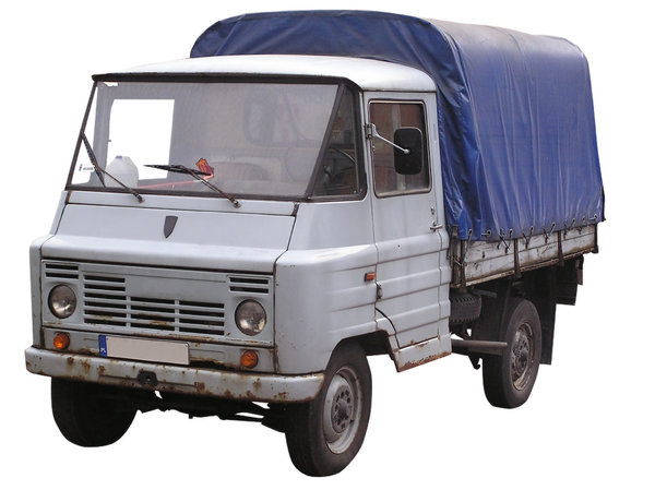 Light truck: A light truck (van) from Poland. It was called Żuk.