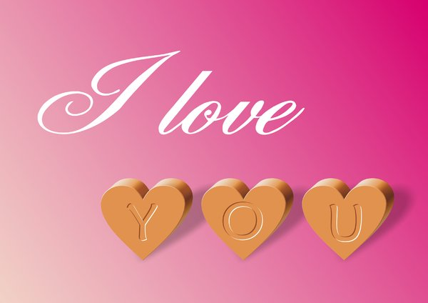 I love you: . . . I love you . . . 
