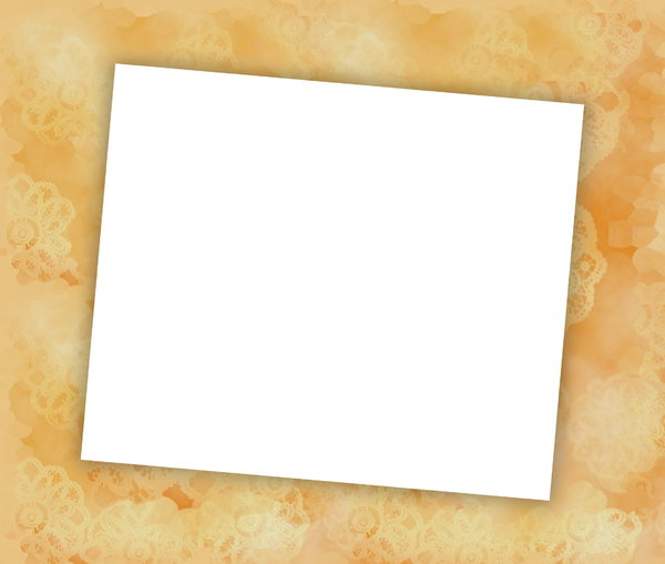 You're Invited 1: Blank notecard in yellow shades suitable for an invitation, banner, birthday, congratulations - many uses. White blank area against a textured pastel background.