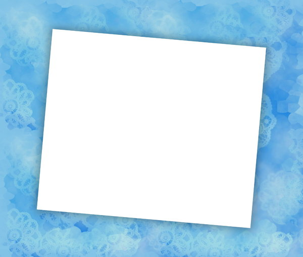 You're Invited 3: Blank notecard in blue shades  suitable for an invitation, banner, birthday, congratulations - many uses. White blank area against a textured pastel background.